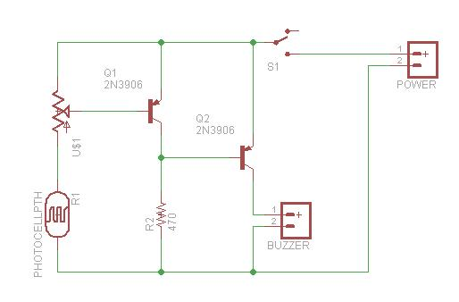 oven light buzzer schematic